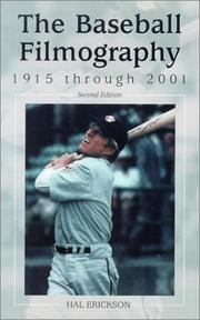 Cover of: The baseball filmography, 1915 through 2001