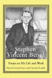Cover of: Stephen Vincent Benet |