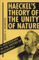 Cover of: Haeckel's theory of the unity of nature