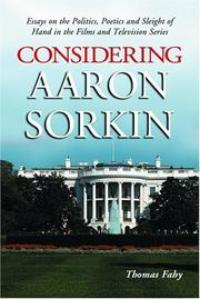 Cover of: Considering Aaron Sorkin |