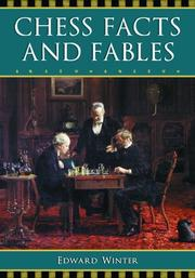 Cover of: Chess facts and fables | Edward Winter