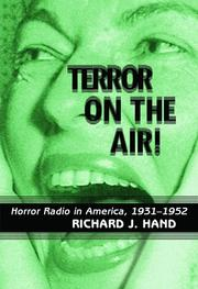 Cover of: Terror on the air! | Richard J. Hand