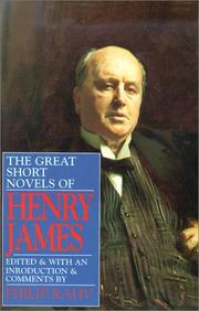 Cover of: The Great Short Novels of Henry James
