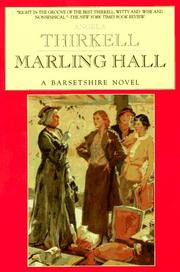 Cover of: Marling Hall: A Barsetshire Novel