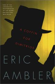 Cover of: A coffin for Dimitrios