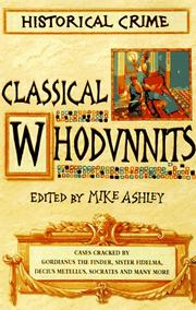 Cover of: Classical Whodunnits: Murder and Mystery from Ancient Greece and Rome