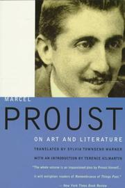 Cover of: Marcel Proust on art and literature, 1896-1919