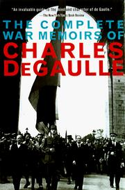 Cover of: The complete war memoirs of Charles de Gaulle