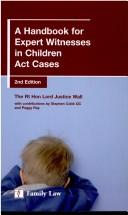 Cover of: handbook for expert witnesses in Children Act cases | Nicholas Wall