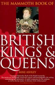 Cover of: The Mammoth Book of British Kings & Queens | Mike Ashley