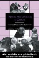 Cover of: Talking and Learning in Groups (Leverhulme Primary Project Classroom Skills)