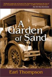 Cover of: A Garden of Sand (Thompson, Earl) | Earl Thompson