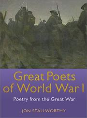 Cover of: Great Poets of World War I: Poetry from the Great War