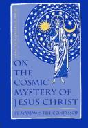Cover of: On the cosmic mystery of Jesus Christ