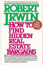 Cover of: How to Find Hidden Real Estate Bargains