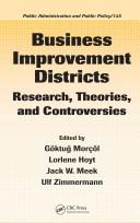 Business Improvement Districts by Goktug Morcol, Lorlene Hoyt, Jack W. Meek, Ulf Zimmermann