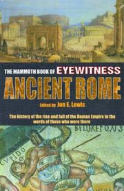 Cover of: The mammoth book of eyewitness ancient Rome |