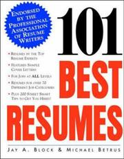 Cover of: 101 best resumes