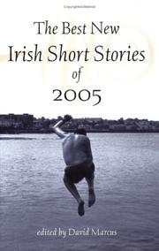 Cover of: The Best New Irish Short Stories 2005 (Best New Irish Short Stories) | David Marcus