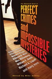 Cover of: The Mammoth Book of Perfect Crimes and Impossible Mysteries