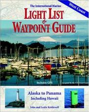 Cover of: The International Marine light list & waypoint guide