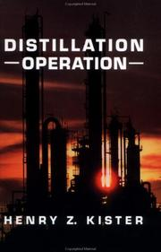 Cover of: Distillation operations | Henry Z. Kister