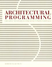 Cover of: Architectural programming