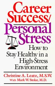Cover of: Career success/personal stress