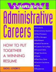 Cover of: WOW! resumes administrative careers