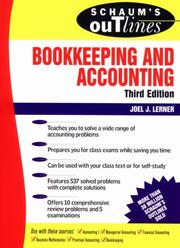 Cover of: Schaum's outline of theory and problems of bookkeeping and accounting