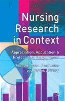 Cover of: Nursing research in context |