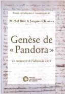 "Cover of: Genèse de ""Pandora"""