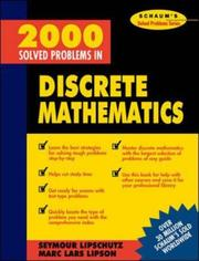Cover of: 2000 Solved Problems in Discrete Mathematics | Seymour Lipschutz