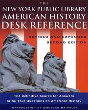 Cover of: NEW YORK PUBLIC LIBRARY AMERICAN HISTORY DESK REFERENCE, THE