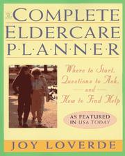 Cover of: The complete eldercare planner