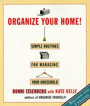 Cover of: Organize Your Home | Ronni Eisenberg