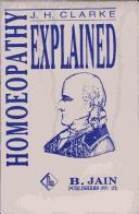 Cover of: HOMOEOPATHY EXPLAINED