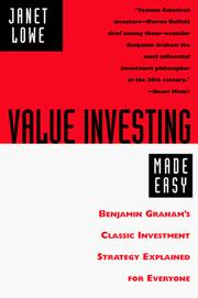 Cover of: Value Investing Made Easy