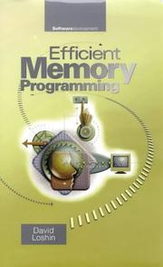 Cover of: Efficient memory programming | David Loshin