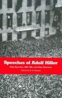 Cover of: The speeches of Adolf Hitler
