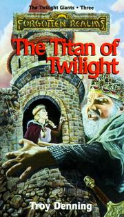Cover of: TITAN OF TWILIGHT (Forgotten Realms)