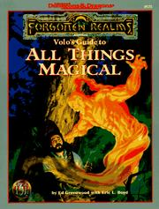 Cover of: Volo's Guide to All Things Magical (AD&D/Forgotten Realms)