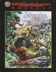 Cover of: Jakandor Land of Legend (Adventure Supplement) | Kirk Botula