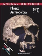 Cover of: Physical Anthropology 99/00 (Annual Editions) | Elvio Angeloni