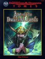 Cover of: Axe of the Dwarvish Lords (AD&D Tomes Series)