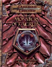 Cover of: Monster Compendium: Monsters of Faerun (Dungeon & Dragons d20 3.5 Fantasy Roleplaying)