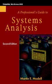 Cover of: A professional's guide to systems analysis
