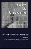 Cover of: Self-reflexivity in literature