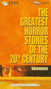 Cover of: Greatest Horror Stories of the 20th Century