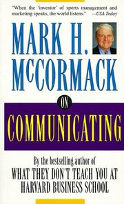 Cover of: On Communicating | Mark H. McCormack